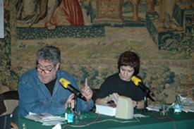 Empar Moliner and Quim Monzó