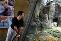 Toni Sala al Zoo de Barcelona